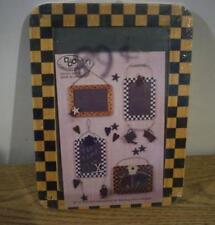 """Miniature Wood & Slate Framed Chalk Board - Cute 5.5"""" by 7.5"""" - LOT of 6"""