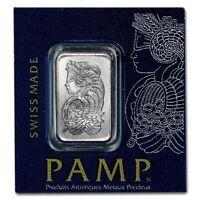 1 GRAM PAMP SUISSE .9995 FINE PLATINUM LADY FORTUNA BULLION BAR ASSAY MULTIGRAM