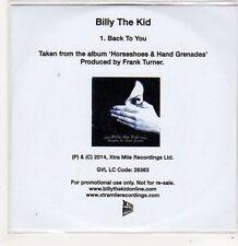 (FJ731) Billy The Kid, Back To You - 2014 DJ CD