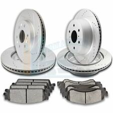 2X Front & 2X Rear Discs Brake Rotors and Pads For 2008-2013 Chevrolet Avalanche
