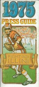 1975 FIGHTING ILLINI FOOTBALL media guide, Lonnie Perrin, Excellent