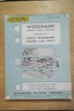Vtg Wiedemann Machine Co Brochure ~ Turret Punch Presses 1957