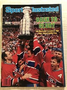 1986 Sports Illustrated MONTREAL Canadians Win 23rd STANLEY CUP CHAMPIONS No/Lab