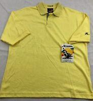 Hobie Polo Shirt Short Sleeve Surfer USA Yellow Mens M Medium Vintage NWT