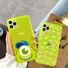 Fluorescent Yellow Cute Cartoon Phone Case for iPhone Transparent Fashion Cover