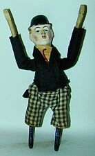"Charlie Chaplin Composition & Wood Wind-Up Tumbler 9"" Tall 1920s USA"