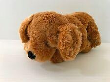 STUFFED BROWN DOG, soft brown dog, Russ Berrie dog, Toastin' dog, fuzzy dog
