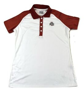 Campus Classics Scarlet Series Womens Ohio State Buckeyes Polo Shirt New S-2XL