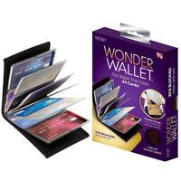 NEW Original Wonder Wallet Amazing Slim RFID Wallets As Seen on TV Black Leather