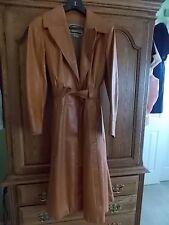 Vintage COLOR COLOR COLOR  COPPER  Leather Full Length Coat Women's Size 10