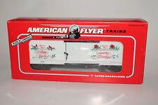 LIONEL AMERICAN FLYER #6-48314 1992 CHRISTMAS BOXCAR, S GAUGE, NIB