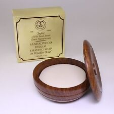 Sandalwood Luxury Herbal Shaving Soap in Wooden Bowl 100g, Taylor of Old Bond St