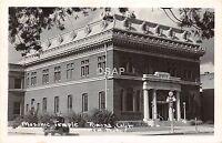 California Ca Postcard Real Photo RPPC c1940s POMONA Masonic Temple Building