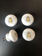 🐝 Bee Door Cupboard Cabinet Handle Knob Wooden X4 Decorative 40mm