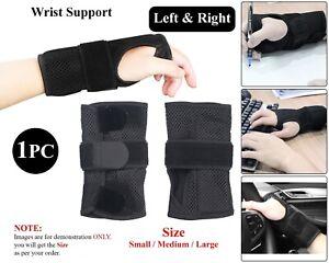 Breathable Wrist Soutien Splint Brace Carpal Tunnel Arthritis Pain Relief Strain