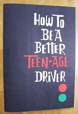 Vintage 1960s METROPOLITAN Life Insurance HOW TO BE A BETTER TEEN-AGE DRIVER