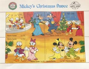 Sierra Leone- Disney, Mickeys Christmas Dance Stamp - Sheet of 8 MNH