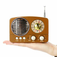 Portable Radio Rechargeable with Bluetooth Speaker AM FM SW + TF Card Slot