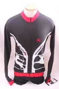 New Giordana Men's Forma Carbon Jersey Cycling Bike 2XL Black Long Sleeve Top