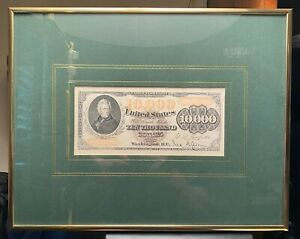 Framed and Matted Bureau of Printing and Engraving Gold Certificate souvenir