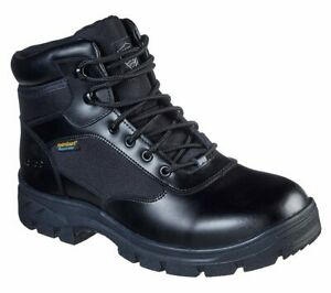 Skechers Work Relaxed Fit: Wascana Benen WP Mens Tactical Boots Leather Shoes
