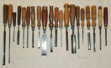 More details for 20 vintage chisels old tools woodworking tools vintage chisel tools gouges