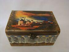 Hand Decorated pulsera de Joyería Caja de Regalo Organizador De Almacenamiento Caja Madera Nuevo