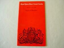 Programme: ROH Covent Garden 1969 GLUCK Orfeo ed Euridice Minton Lorengar Solti