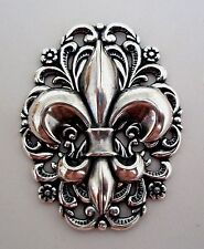 Sterling Silver Pltd FRENCH FLEUR DE LIS LYS Brooch Pin Game of Thrones Insp
