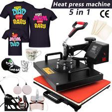 5 in 1 Heat Press Machine for T Shirt Mug T-Shirt Hat Cap Plate Transfer Printer