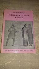 Libro LETTERATURA LATINA PAGANA DI ALESSANDRO RONCONI SANSONI 1a Ed 1960