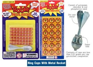 Cap Ring Bomb With Metal Rocket Dart Party Bag Filler 192 Caps Shots Loud Refill