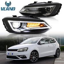 LED DRL Headlights For VW Polo MK5 6R 09-17 RHD Dynamic Indicator Headlights
