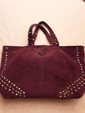 Superbe grand sac à main en velours de cuir Zadig et Voltaire
