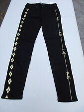 LE DC Comics Suicide Squad Harley Quinn Black Skinny Jeans Bang Size 3