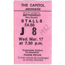 MOTORHEAD & TANK Concert Ticket Stub ABERDEEN SCOTLAND 3/17/82 IRON FIST TOUR
