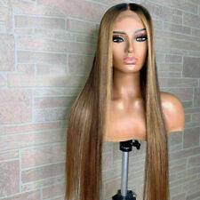 Luxury Lace Front Remy Streak Ombre Ash Honey Blonde Full Lace Human Hair Wig