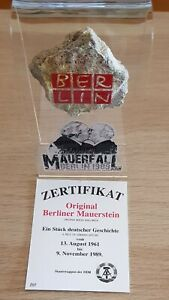 Original Piece of The Berlin Wall in Stunning Perspex Display - 30th Anniversary