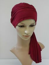 Chemo head wear, head covering for hair loss, turban hat with ties
