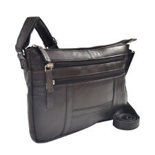 Womens Leather Cross Body Shoulder Bag  With 3 Zippers
