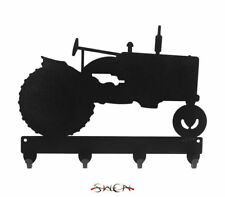 SWEN Products FARMALL TRACTOR Black Metal Key Chain Holder Hanger