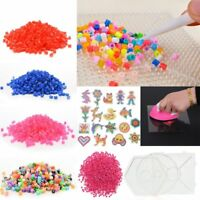 1000PCS 5mm Craft DIY Hama Perler Beads Template Kids Toy Puzzle Pegboard