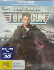 *NEW & SEALED*  Top Gun 3D+2D (Blu-ray, 2013) Region B AUS. Embossed Slip Cover!