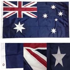 3x6 Embroidered Sewn Australia Australian 300D Nylon Flag 3'x6' 3 clips