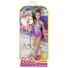 Barbie Ribbon Gymnast Doll Teresa (Brunette with Purple Outfit) Mattel (DKJ18)
