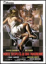 MORTE SOSPETTA DI UNA MINORENNE MANIFESTO CINEMA THRILLER 19751 MOVIE POSTER 4F