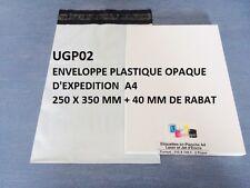enveloppe plastique blanches opaque  formats: A5 A4 A3 A3++ de 10 à 1000 ex