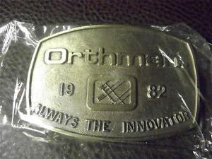 Orthman Always the Innovator 1982 Belt Buckle Orthman Tillage Tools #1196 NIP