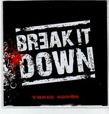 (BS780) Break It Down, Three Songs - DJ CD