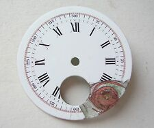 Vintage Rare Enamel Pocket Watch Dial Esfera Cadran Zifferblatt 44mm